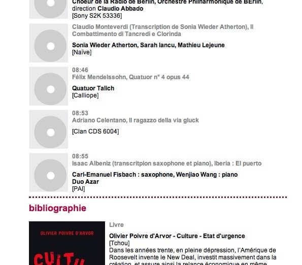 Full image of Musique matin, Christophe Bourseiller, extrait du site Internet de France Musique