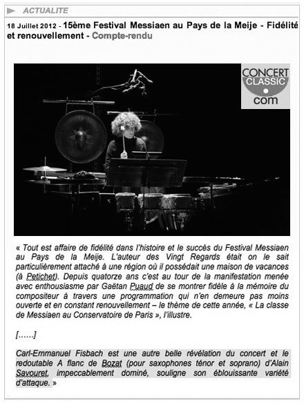 Preview of Alain Cochard, www.concertclassic.com